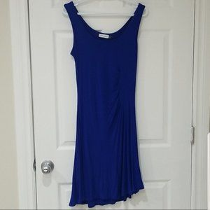 NWOT Calvin Klein Blue assymetrical dress